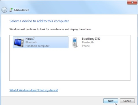 How to connect or pair a Bluetooth device on Windows 7
